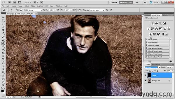Using layers: Photo Restoration with Photoshop