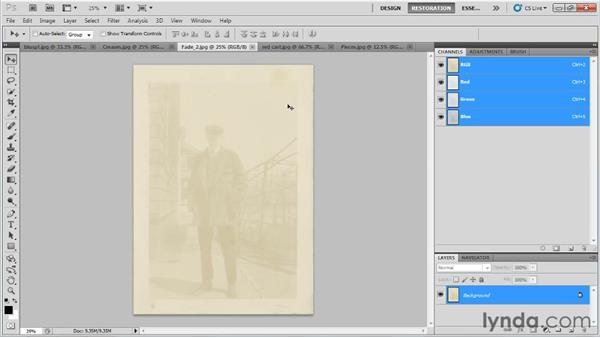 Assessing the damage: Photo Restoration with Photoshop