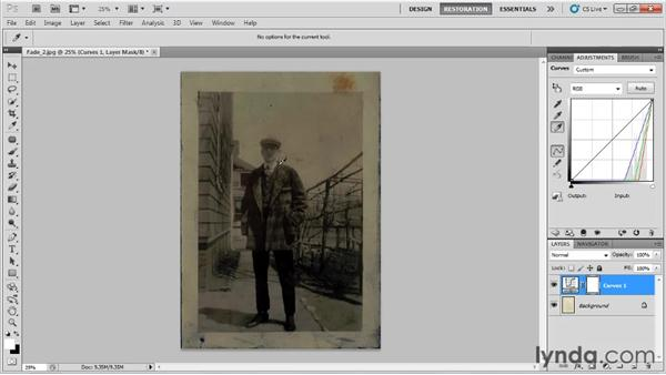 Fixing a faded black-and-white photo: Photo Restoration with Photoshop