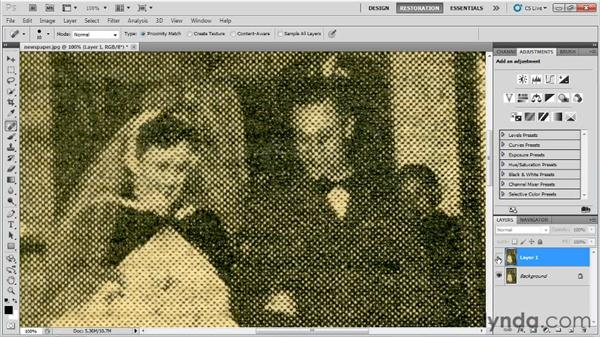 Reducing dot patterns in printed photos: Photo Restoration with Photoshop
