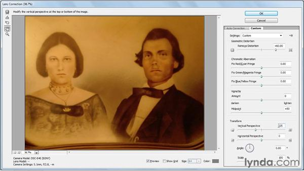 Fixing lens distortion: Photo Restoration with Photoshop