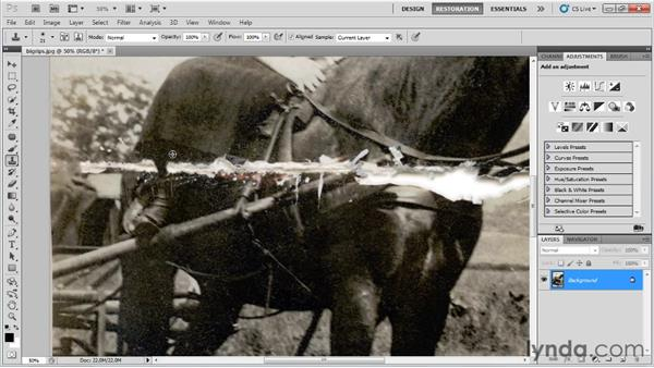 Fixing large rips, tears, and other damage: Photo Restoration with Photoshop