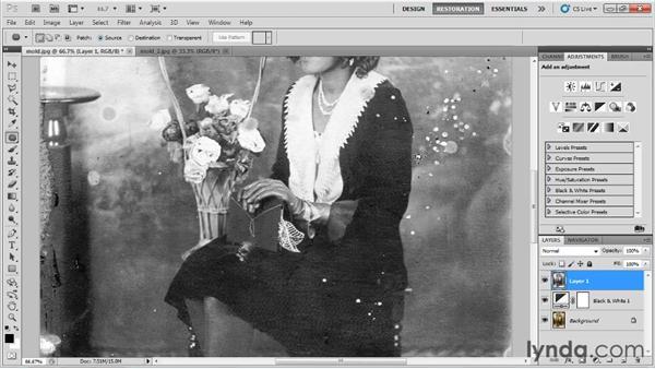 Fixing mold damage: Photo Restoration with Photoshop