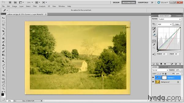 Understanding the basics of curves: Photo Restoration with Photoshop