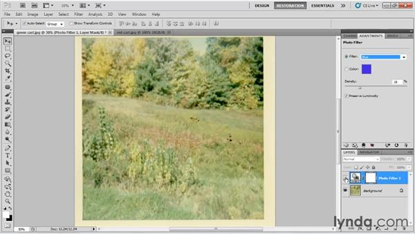 Adjusting color with the Photo Filter adjustment : Photo Restoration with Photoshop