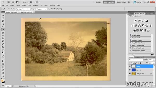 Correcting color casts using inverse color correction: Photo Restoration with Photoshop
