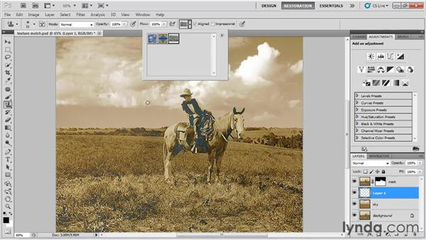 Matching textures: Photo Restoration with Photoshop
