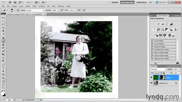 Enhancing faded color: Photo Restoration with Photoshop