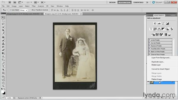 Sharpening: Photo Restoration with Photoshop