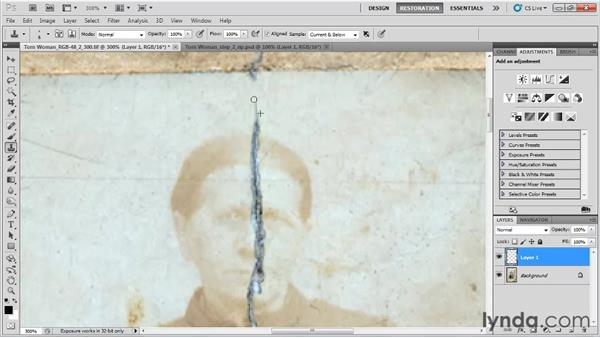 Repairing the crack: Photo Restoration with Photoshop