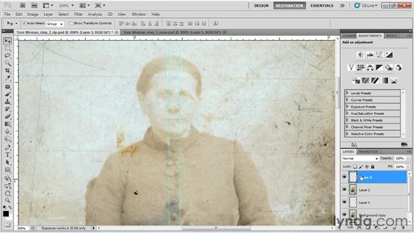 Replacing the missing body parts: Photo Restoration with Photoshop