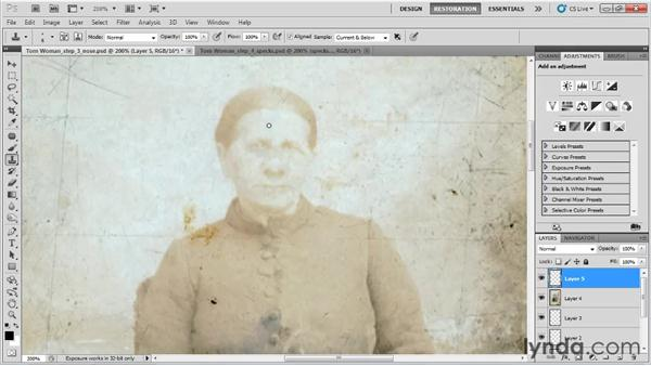 Removing the specks, spots, and scratches: Photo Restoration with Photoshop