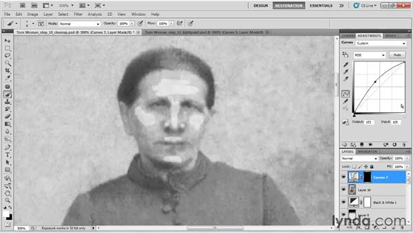 Adding definition to the face: Photo Restoration with Photoshop