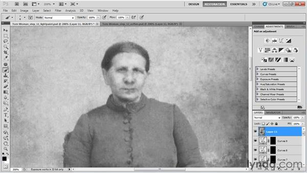Softening the image: Photo Restoration with Photoshop