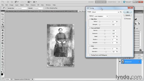 Sharpening the image: Photo Restoration with Photoshop