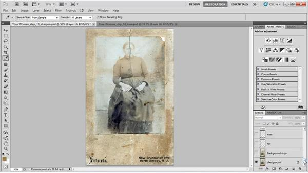 Bringing back some of the original tone: Photo Restoration with Photoshop