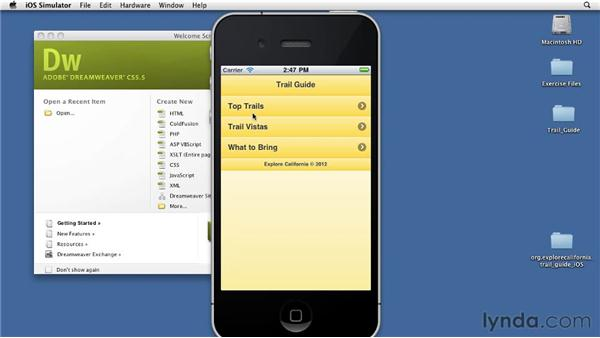 Emulating the iPhone: Building Android and iOS Apps with Dreamweaver CS5.5
