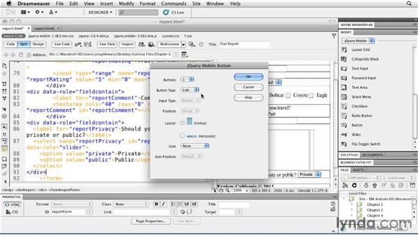 Submitting forms: Building Android and iOS Apps with Dreamweaver CS5.5