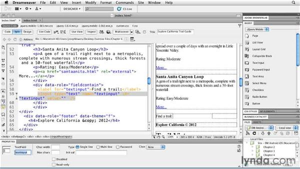 Setting up search: Building Android and iOS Apps with Dreamweaver CS5.5