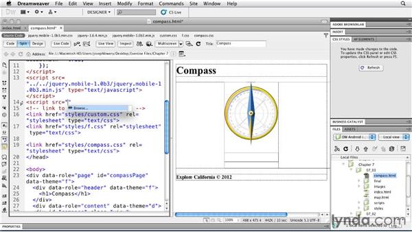 Using the compass: Building Android and iOS Apps with Dreamweaver CS5.5
