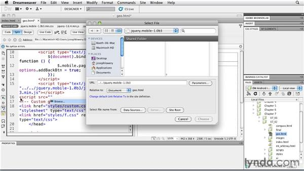 Using geolocation with maps: Building Android and iOS Apps with Dreamweaver CS5.5