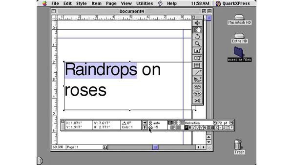 quark basics: Learning QuarkXPress 5