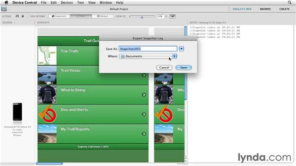 Documenting your app's appearance: Building Android and iOS Apps with Dreamweaver CS5.5