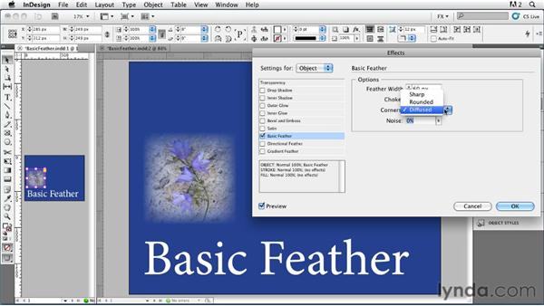 011 Exploring Basic Feather Settings: InDesign FX