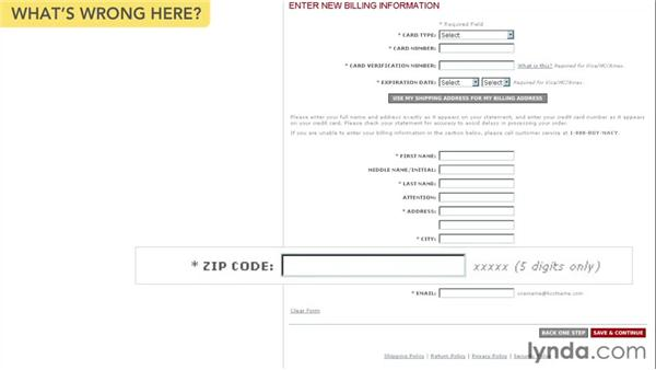 Field length: Web Form Design Best Practices
