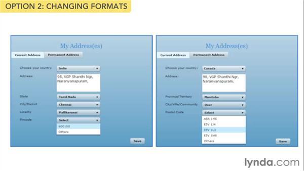 International addresses: Web Form Design Best Practices
