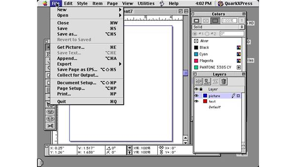 text to box: Learning QuarkXPress 5
