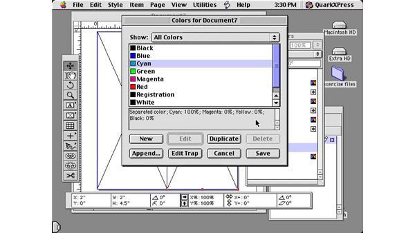 adding colors: Learning QuarkXPress 5
