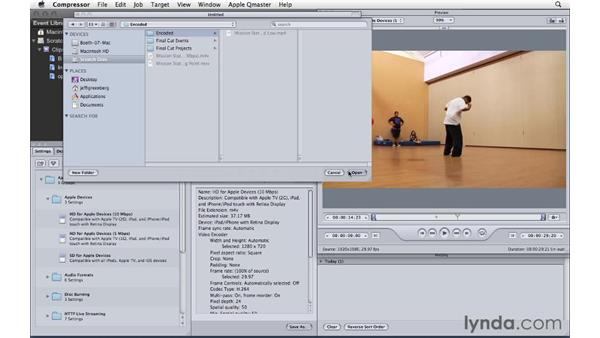 Using Compressor with Final Cut Pro X: Compressor 4 Essential Training