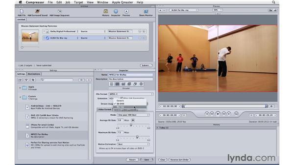 Improving Blu-ray encoding: Compressor 4 Essential Training