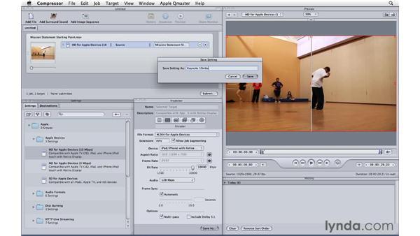 Encoding for use in Keynote: Compressor 4 Essential Training