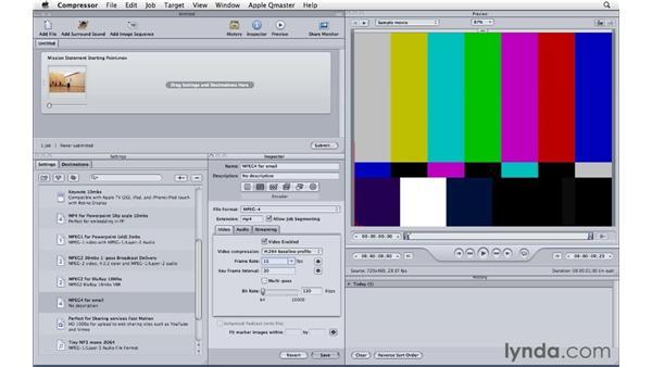 Encoding for email: Compressor 4 Essential Training
