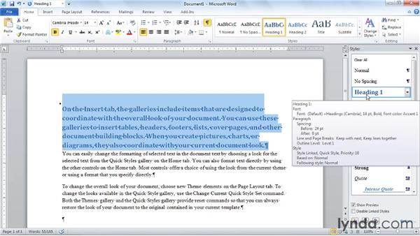 Setting font, document, and template defaults in Word 2010: Word 2010: Styles in Depth