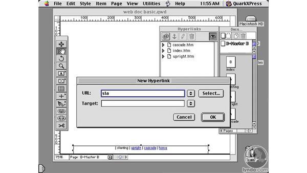 web document basics: Learning QuarkXPress 5