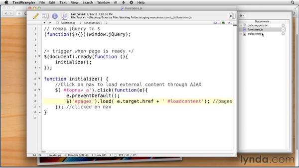 Loading external pages with AJAX: Creating an Adaptive Web Site for Multiple Screens
