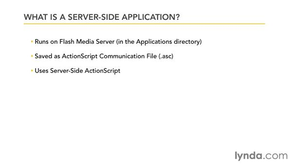 What is a server-side application?: Up and Running with Flash Media Server 4.5