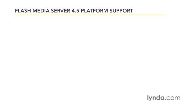 What platforms are supported?: Up and Running with Flash Media Server 4.5