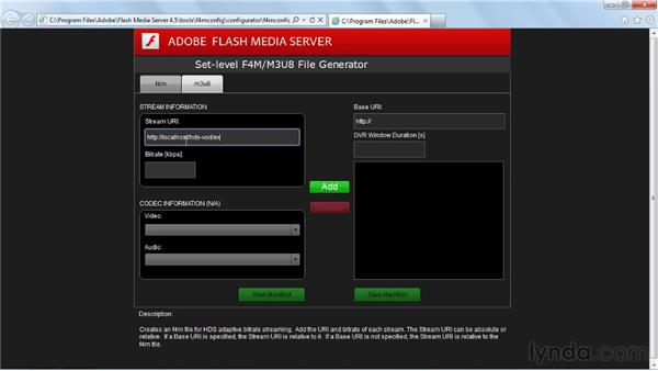Publishing multi-bitrate on-demand streams via HDS: Up and Running with Flash Media Server 4.5