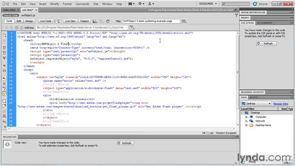 Creating a universal player code: Up and Running with Flash Media Server 4.5