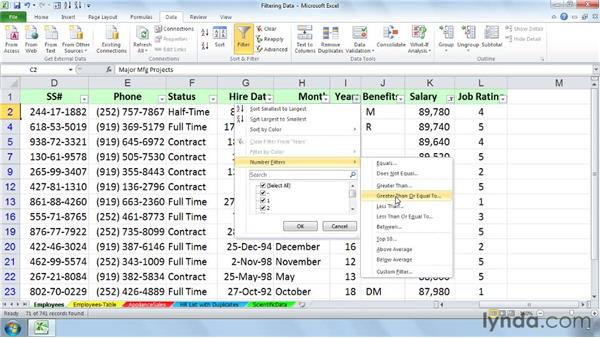 Recognizing the limitations of standard filtering: Managing and Analyzing Data in Excel 2010