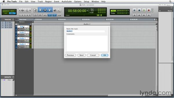 Creating a template session for working to picture: Music Editing for TV and Film in Pro Tools