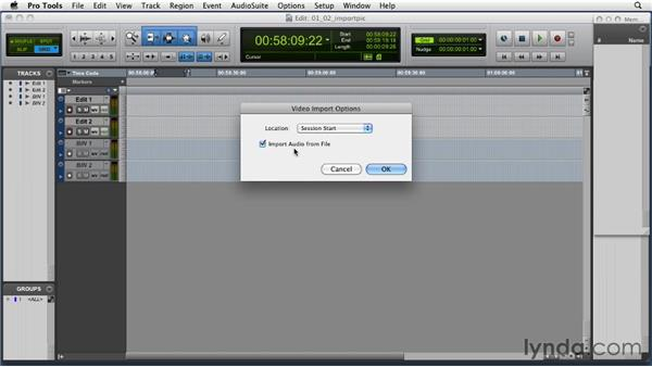 Importing a picture file: Music Editing for TV and Film in Pro Tools