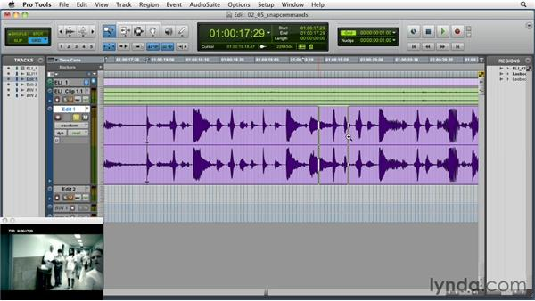 Using the snap editing commands: Music Editing for TV and Film in Pro Tools