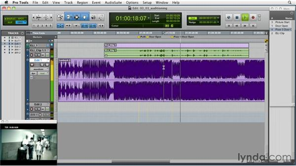 Auditioning music to picture: Music Editing for TV and Film in Pro Tools