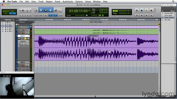 """Editing to acquire multiple sync points within the same """"cue"""" : Music Editing for TV and Film in Pro Tools"""