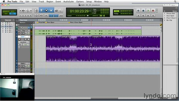Editing to maintain or change the arc/build of the cue to fit the scene : Music Editing for TV and Film in Pro Tools